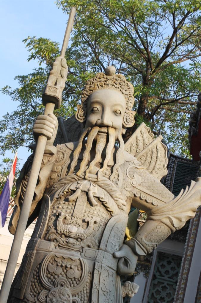 Stone Guards at Wat Pho, Bangkok, Thailand