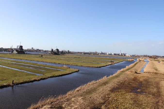 The polders of Zaanse Schans, The Netherlands