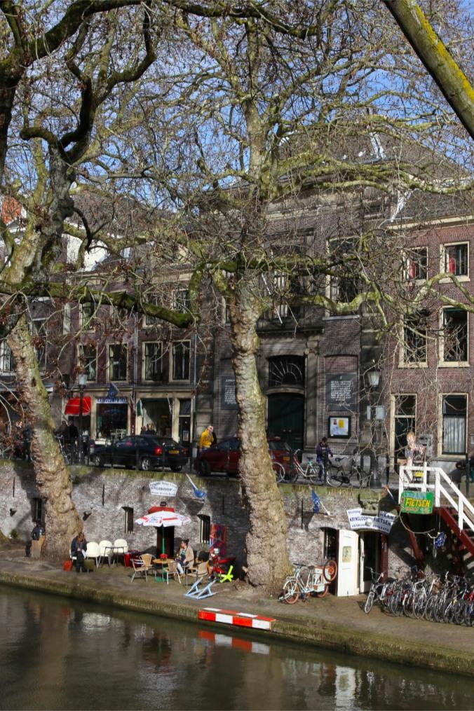 Canalside cafe, Utrecht, The Netherlands