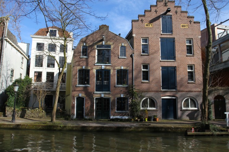 Houses and canals, Utrecht, The Netherlands