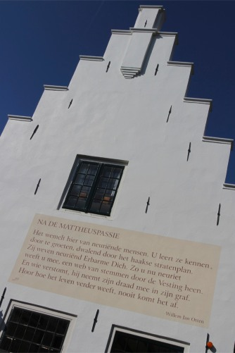 House with poem, Naarden, The Netherlands