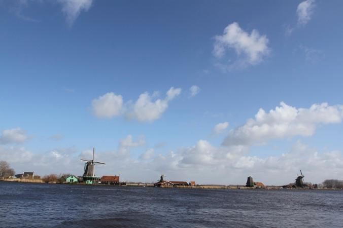 Zaan river from Zaandijk, Zaanse Schans, The Netherlands