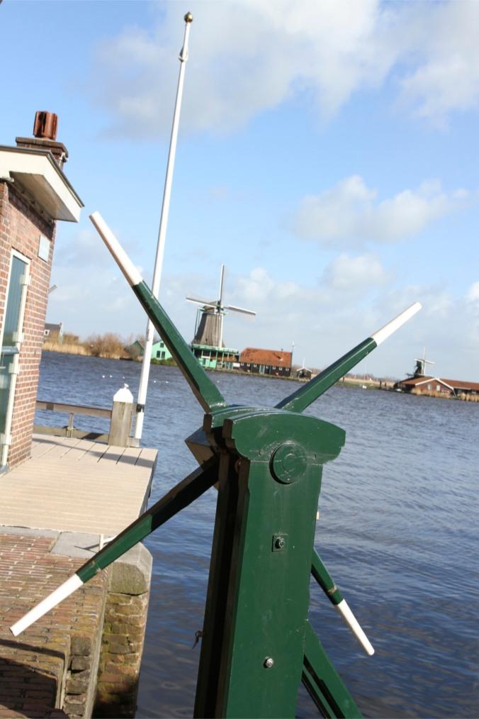 Zaan river and windmills from Zaandijk, Zaanse Schans, The Netherlands