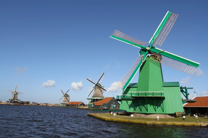 Working windmills of Zaanse Schans, The Netherlands