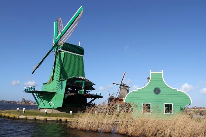 Working windmills of Zaanse Schans, The Netherlands