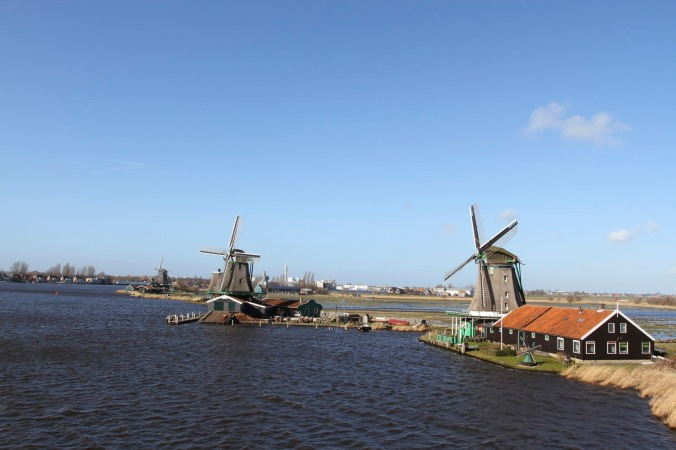 Working windmills of Zaanse Schans, The NetherlandsWorking windmills of Zaanse Schans, The Netherlands