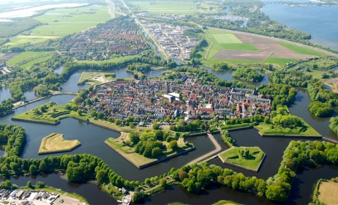 Naarden from the air, The Netherlands