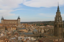 Views from Iglesia de San Ildefonso, Toledo, Castilla-La Mancha, Spain