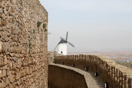 Windmills above Consuegra, Castilla-La Mancha, Spain