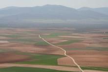 View over the plain, Consuegra, Castilla-La Mancha, Spain