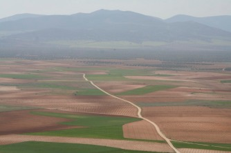 View over the plain, Consuegra, Castilla-La Mancha, Spain
