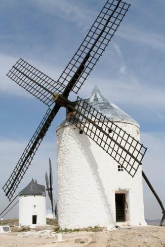 Windmills above Consuegra, Castilla-La Mancha, Spain