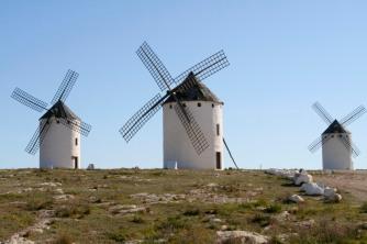 Windmills at Campo de Criptana, Castilla-La Mancha, Spain