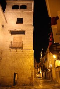 Malaga at night, Andalusia, Spain