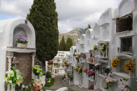 Old cemetery, Casares, Andalusia, Spain