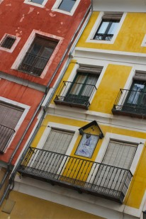 Colourful houses in Cuenca, Castilla-La Mancha, Spain