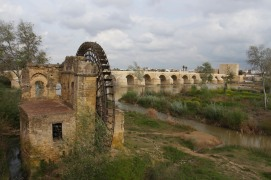 Water wheel, Cordoba, Andalusia, Spain