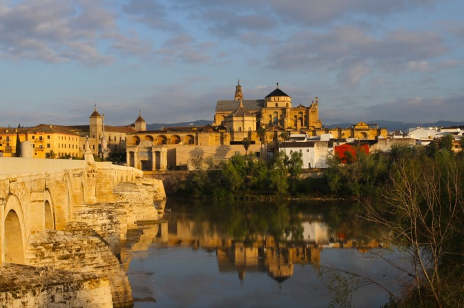 View over the Mezquita and Catholic Cathedral, Cordoba, Spain
