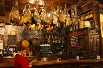 Bar with hams, Toledo, Castilla-La Mancha, Spain