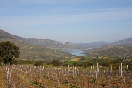 The view towards Zahara de la Sierra, Andalusia, Spain