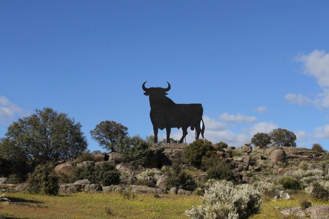 A Spanish bull sign, Extremadura, Spain