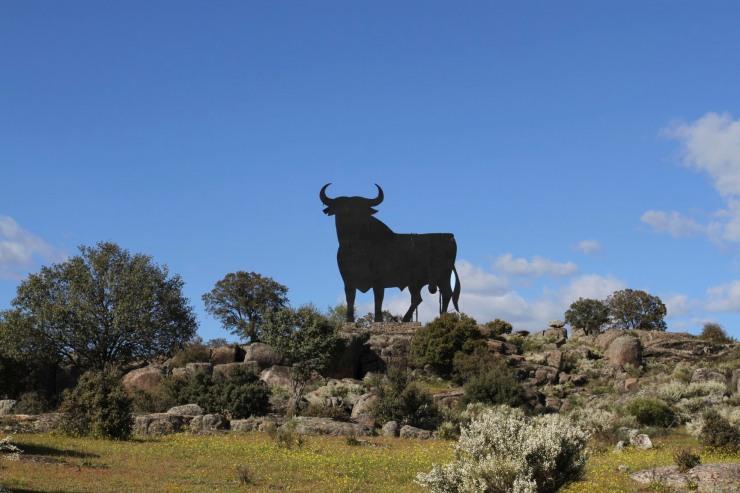 A Spanish bull sign, Extremadura, Spain