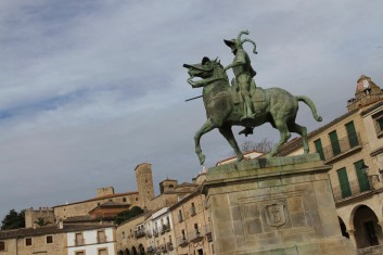 Statue of Francisco Pizarro, Trujillo, Extremadura, Spain