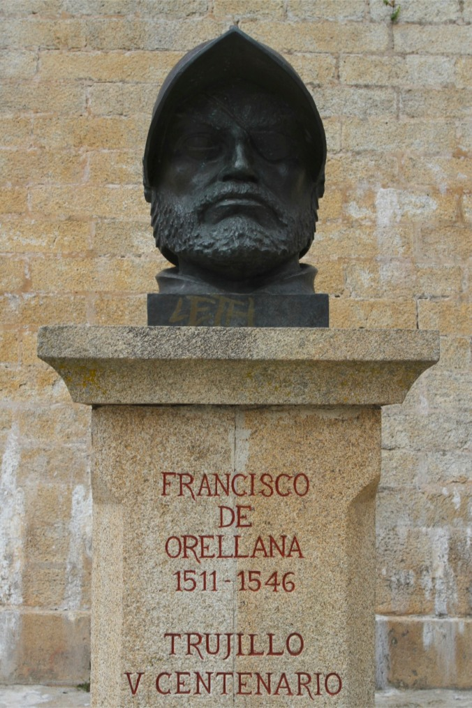 Statue of Francisco de Orellana, Trujillo, Extremadura, Spain
