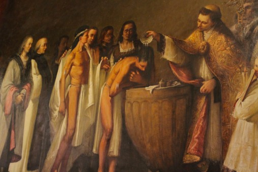 Columbus' native Americans, Monastery of Santa Maria de Guadalupe, Extremadura, Spain