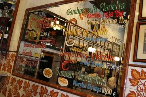Tapas bar, Madrid, Spain