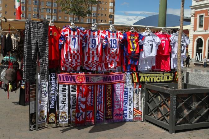 Football scaves, Madrid, Spain