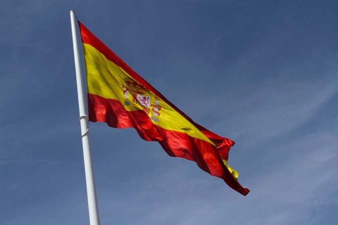 Spanish flag, Madrid, Spain