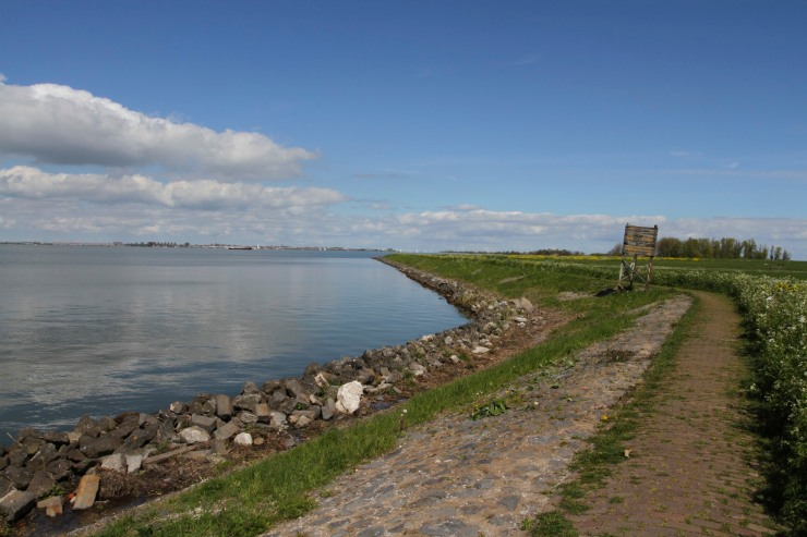 Cycling around the island of Marken, Waterland, Netherlands