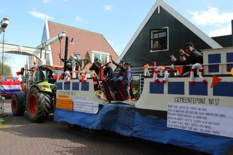 World War II parade, Ransdorp, Waterland, Netherlands