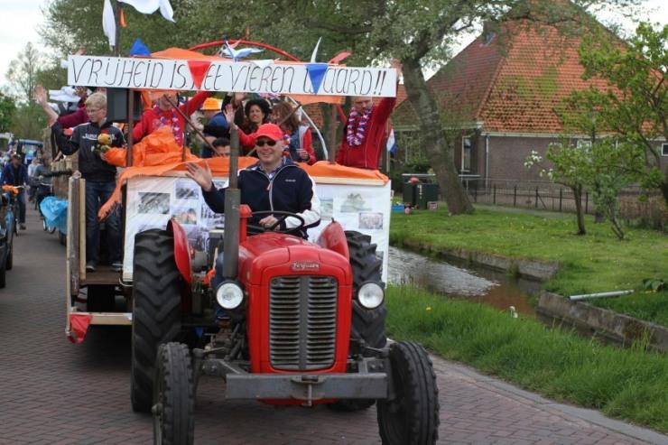 World War II parade, Ransdorp, Waterland, Netherlands