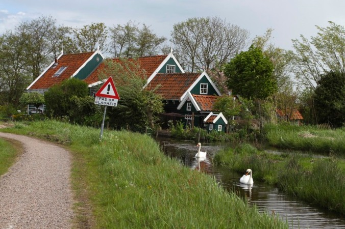 Countryside near Ransdorp, Waterland, Netherlands