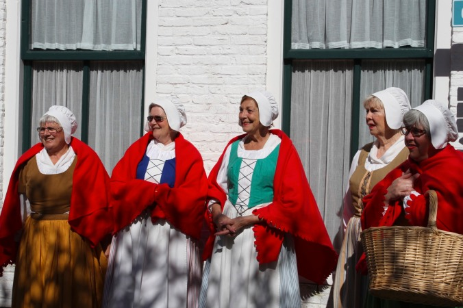 Traditional Dutch costume, the Zuiderzee Museum, Enkhuizen, Netherlands