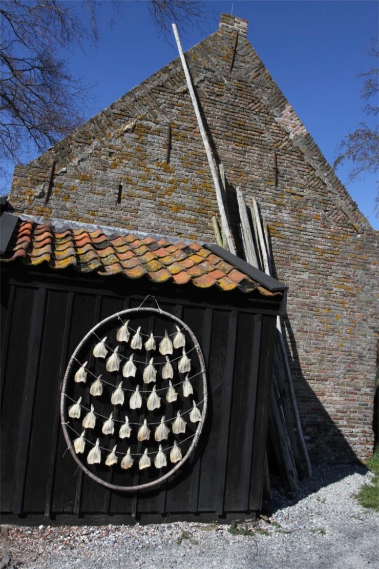 Drying fish, the Zuiderzee Museum, Enkhuizen, Netherlands