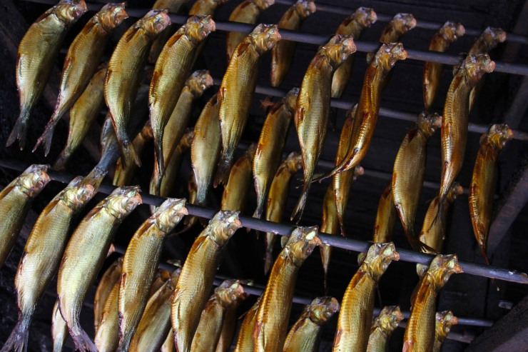 Smoking fish, the Zuiderzee Museum, Enkhuizen, Netherlands