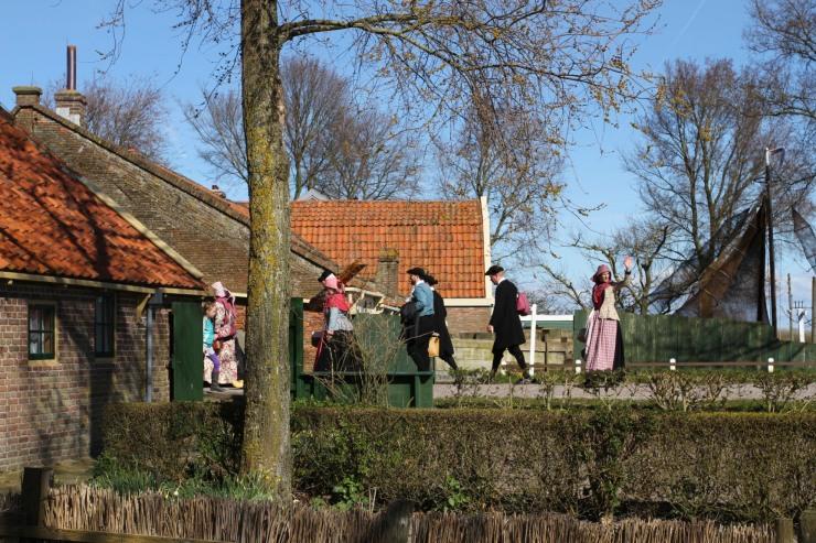 Villagers in costume, the Zuiderzee Museum, Enkhuizen, Netherlands