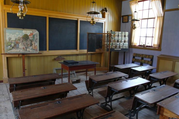 School room, the Zuiderzee Museum, Enkhuizen, Netherlands