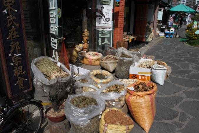 Traditional herbal medicine market, Daegu, Korea