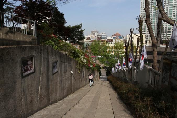 Historic route for March 1st Movement, Daegu, Korea