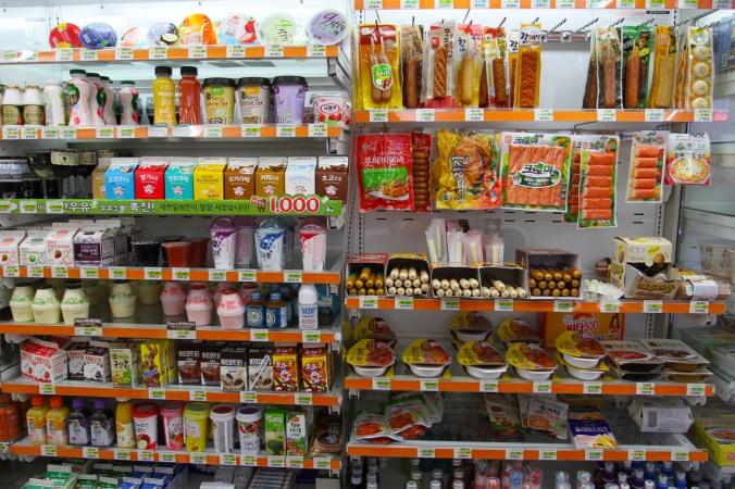 Snack shopping, Gyeongju, Korea