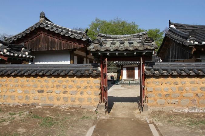 Traditional Korean homes, Gyeongju, Korea