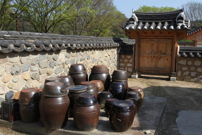 Traditional Korean homes, Gyeongju, Korea