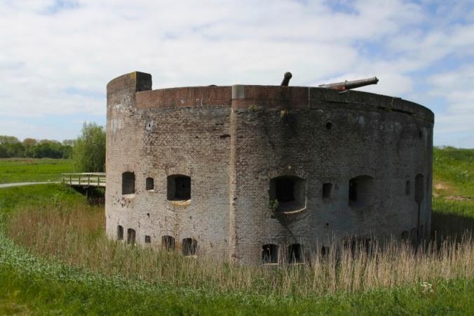 Zuiderzee fort near Muiden, Netherlands