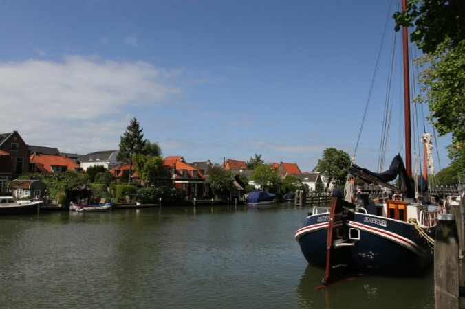 Harbour in Muiden near Muiderslot castle, Netherlands