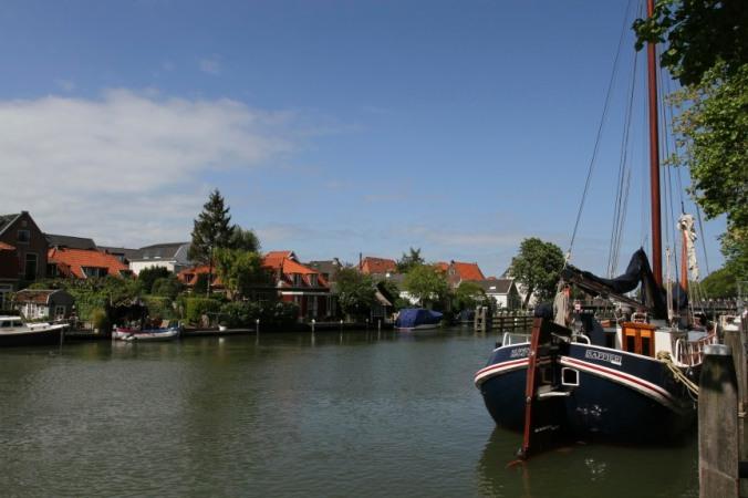 Harbour in Muiden near Muiderslot castle, Netherlands
