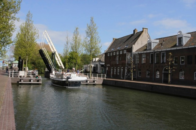 Canals and boats, Weesp, Netherlands